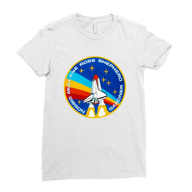Space Shuttle Program Ladies Fitted T-shirt   Artistshot