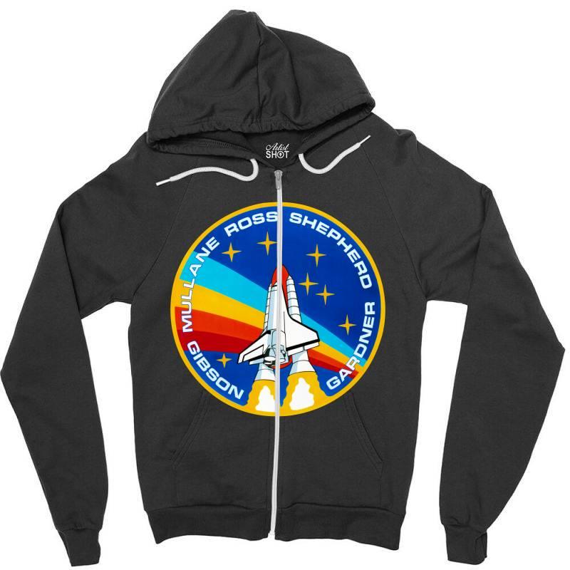 Space Shuttle Program Zipper Hoodie   Artistshot