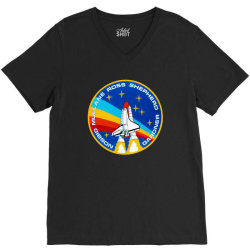 space shuttle program V-Neck Tee | Artistshot