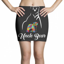 uncle bear white Mini Skirts | Artistshot