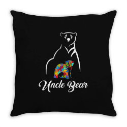 uncle bear white Throw Pillow | Artistshot