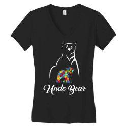 uncle bear white Women's V-Neck T-Shirt | Artistshot