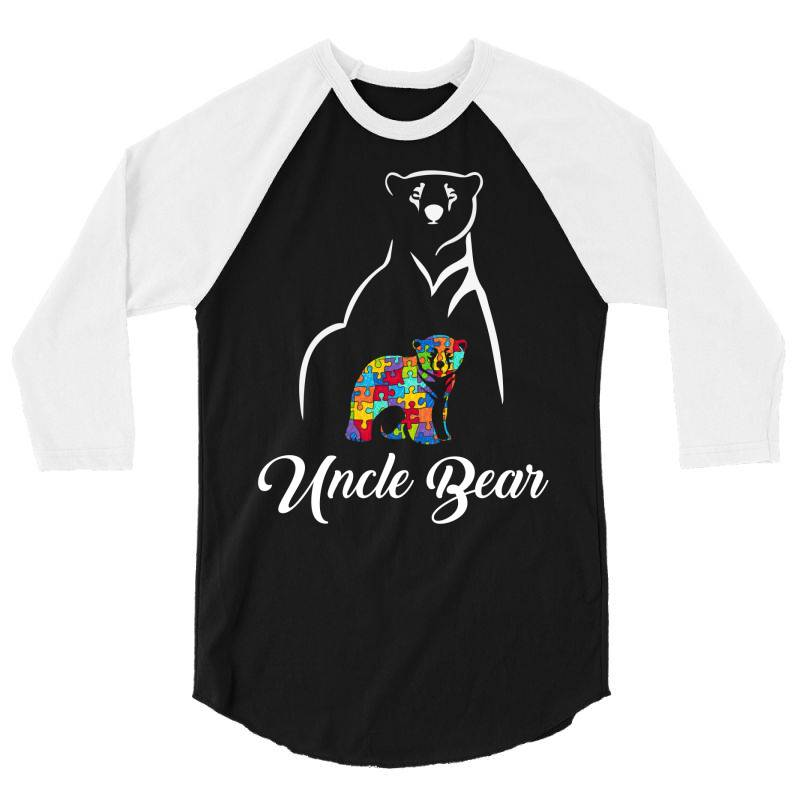 Uncle Bear White 3/4 Sleeve Shirt | Artistshot