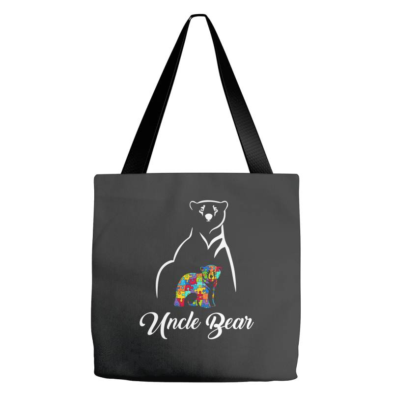 Uncle Bear White Tote Bags | Artistshot