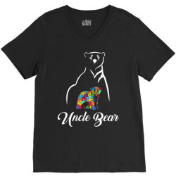 uncle bear white V-Neck Tee | Artistshot