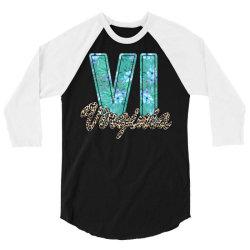 virginia 3/4 Sleeve Shirt | Artistshot