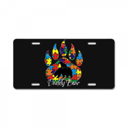 daddy bear autism awareness day License Plate | Artistshot