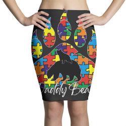 daddy bear autism awareness day Pencil Skirts   Artistshot