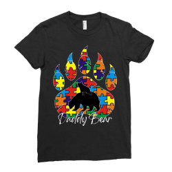 daddy bear autism awareness day Ladies Fitted T-Shirt   Artistshot