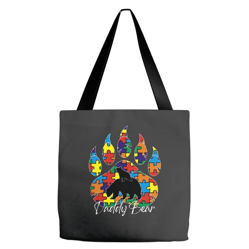 Daddy Bear Autism Awareness Day Tote Bags | Artistshot