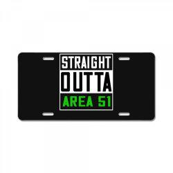 straight outta area 51 shirt License Plate   Artistshot