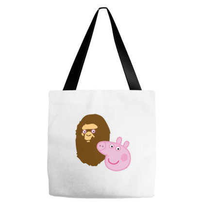 Peppa Pig Bape Tote Bags Designed By Agilenthawking.store