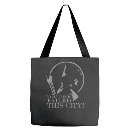 Arrow You Have Failed This City Tv Series Quote Black White Cotton T S Tote Bags Designed By Zak4