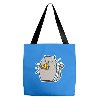 A Cat Eating Pizza Tote Bags Designed By Grafixbychawki
