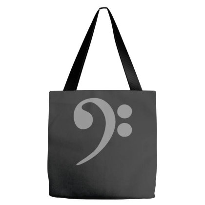 Bass Cleff Funny Tote Bags Designed By Zak4