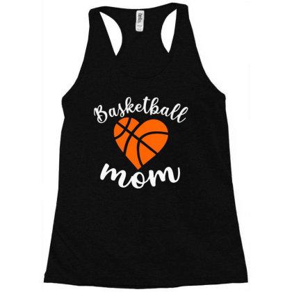 Basketball Mom For Dark Racerback Tank Designed By Sengul