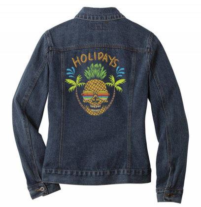 Holidays, Skull Ladies Denim Jacket Designed By Estore