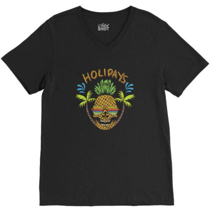 Holidays, Skull V-neck Tee Designed By Estore