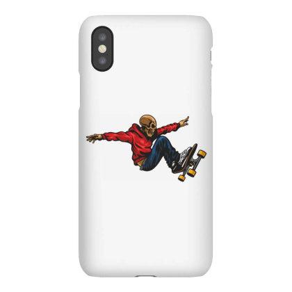 Skateboarder Skull Iphonex Case Designed By Estore