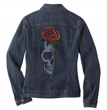 Skull Rose Ladies Denim Jacket Designed By Estore