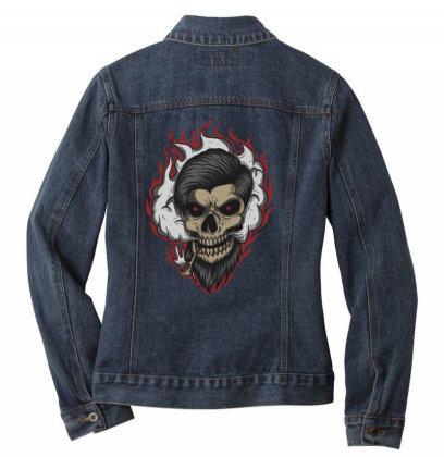 Skull Ladies Denim Jacket Designed By Estore
