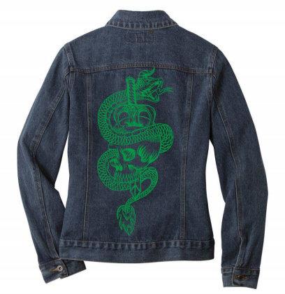 Skull Dragon Ladies Denim Jacket Designed By Estore