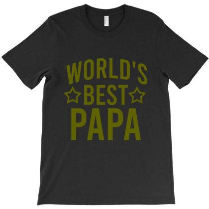World's Best Papa T-shirt Designed By Cypryanus
