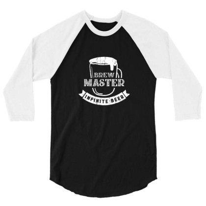 Brew Master Infinite Beer 3/4 Sleeve Shirt Designed By Sr88