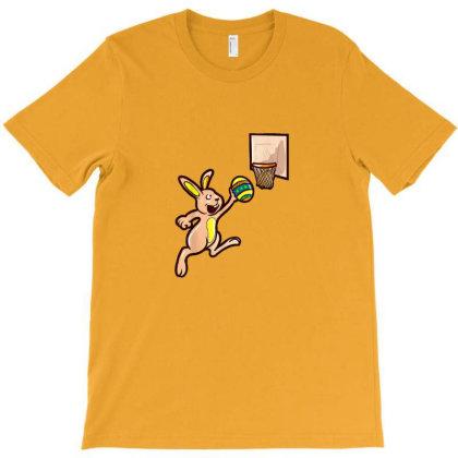 Easter Egg Basketball Bunny Gift Boys T-shirt Designed By Asatya