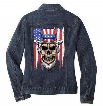 Skull America Ladies Denim Jacket Designed By Estore