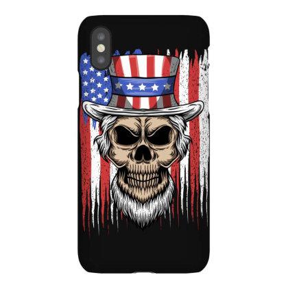Skull America Iphonex Case Designed By Estore