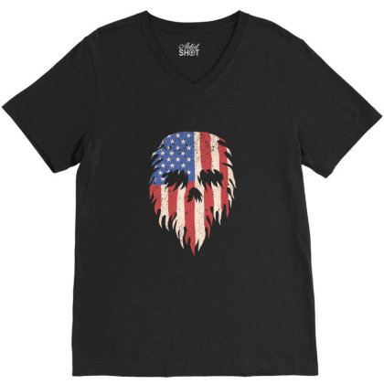 Skull America V-neck Tee Designed By Estore