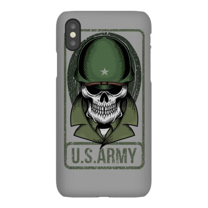 Skull Us Army Iphonex Case Designed By Estore
