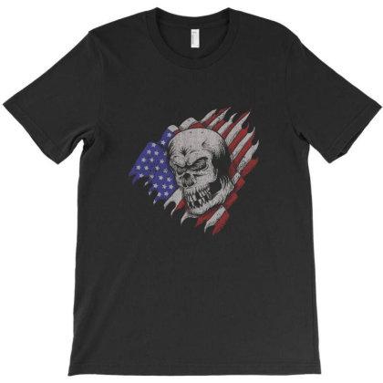 Skull America T-shirt Designed By Estore