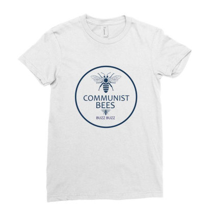 Communist Bees Ladies Fitted T-shirt Designed By Cloudystars
