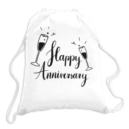 Happy Anniversary Drawstring Bags Designed By Estore