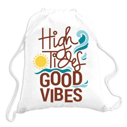 Good Vibes Drawstring Bags Designed By Estore