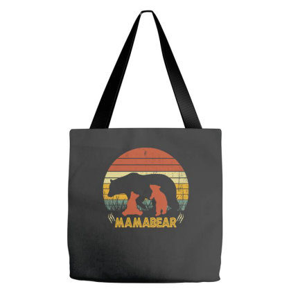 Mamabear Vintage Love Mother's Day Tote Bags Designed By Badaudesign
