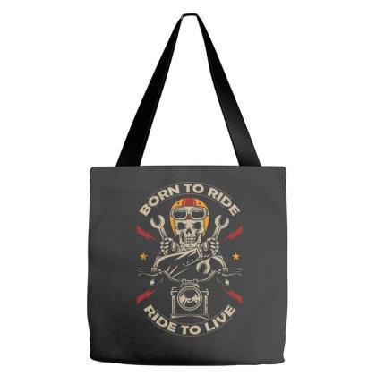 Born To Ride Skull Tote Bags Designed By Estore