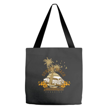 Sunset Beach Tote Bags Designed By Estore