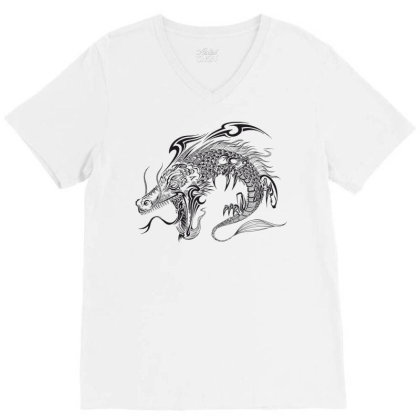 Dragon V-neck Tee Designed By Estore