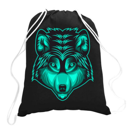 Wolf Drawstring Bags Designed By Estore