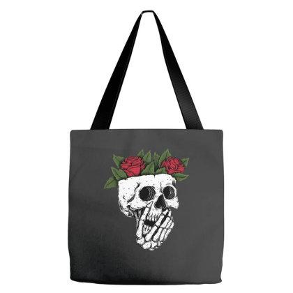 Rose Skull Tote Bags Designed By Badaudesign