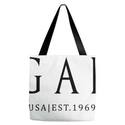 Gap Logo Est 1969 Black Logo T-shirt Tote Bags Designed By Tarekroqa