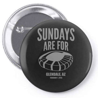 Sundays Are For Football Foot Ball Pin-back Button Designed By Zak4