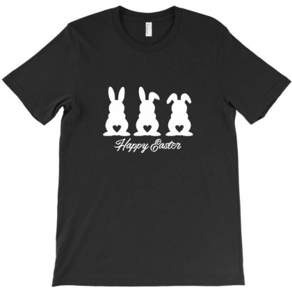 Three Easter Bunnies With Heart Shaped Tails T-shirt Designed By Asatya