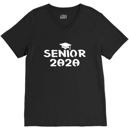Senior 2020 Shirt V-neck Tee Designed By Faical