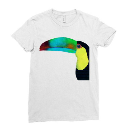 A Colorful Toucan Ladies Fitted T-shirt Designed By Just4you