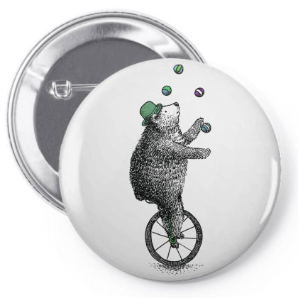 A Juggling Bear Pin-back Button Designed By Just4you