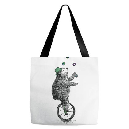 A Juggling Bear Tote Bags Designed By Just4you
